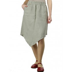 Asymmetrical linen skirt Naturally Podlasek