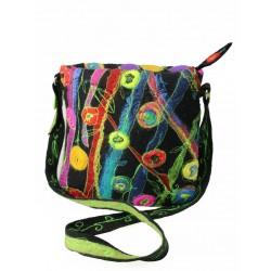 Unique silk & wool felted bag