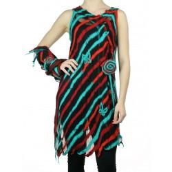 Silk & Wool asymmetrical silk tunic