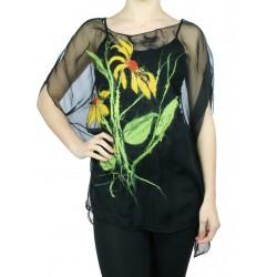 Black silk tunic Naturally Podlasek