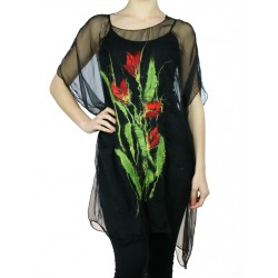 Black silk tunic Naturally Podlasek