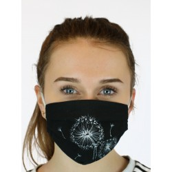 Hand-painted protective face mask made of cotton