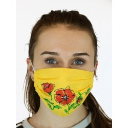 Hand-painted cotton mask NP
