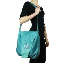 Turquoise shoulder bag Naturally Podlasek