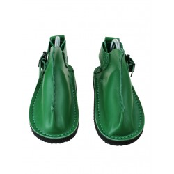 Green leather Vagabond shoes.
