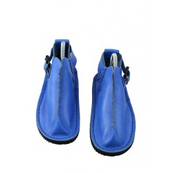 Hand-made Vagabond shoes in blue.