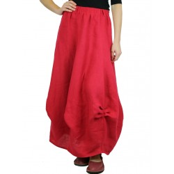 Red linen skirt Naturally Podlasek