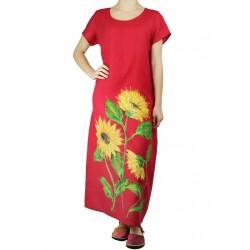 Prosta sukienka lniana Naturalnie Podlasek