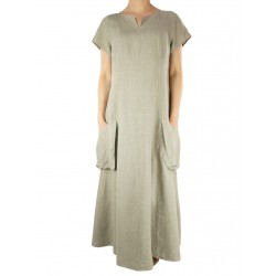 Linen dress with pockets Naturally Podlasie