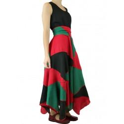 Patchwork linen dress Naturally Podlasek