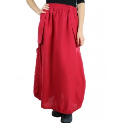 Long red linen skirt Naturally Podlasek