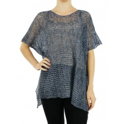 "Knitted linen blouse made by the studio ""Linen Island"""