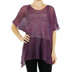 """Knitted linen blouse made by the studio """"Linen Island"""""""