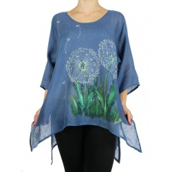 Hand-painted linen blouse NP
