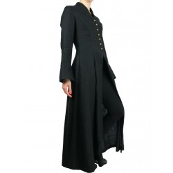 Black gothic coat made of linen