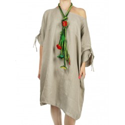 Linen dress with adjustable sleeves NP