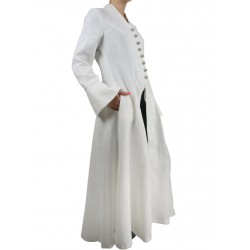 White gothic coat made of linen