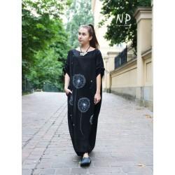 Black oversize linen dress NP