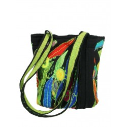 "Felted handbag on silk ""Silk & Wool"""