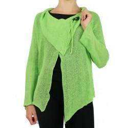 """Celadon linen sweater made by """"Linen Island"""""""