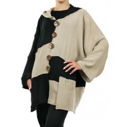 Linen jacket oversize NP