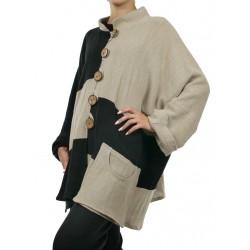 Women's oversize linen jacket NP