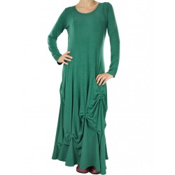 Long knitted dress with avant-garde shape NP