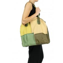 Patchwork women's handbag made in the studio of Dorota Kasprzyk