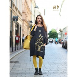 Hand-painted loose knitted dress NP