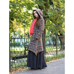 Women's winter coat with a fashionable Naturally Podlasek check