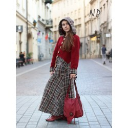 Maroon long wool coat Naturally Podlasek