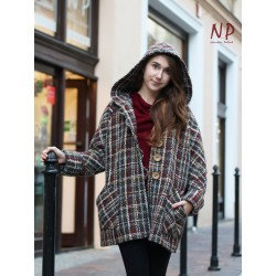 Women's checked hooded jacket NP
