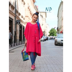 Flared dress made of knitted cotton NP