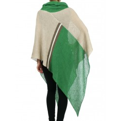 """Loose women's turtleneck poncho made by """"Linen Island"""""""