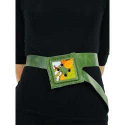 Ladies' green belt by Trek.