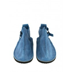 Handmade blue Vagabond shoes.