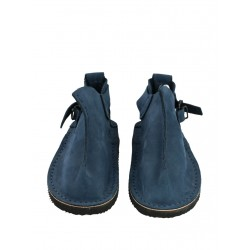 Hand-made navy blue Vagabond shoes.