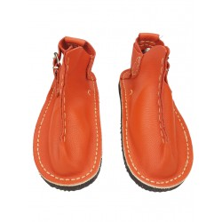 Orange handmade Vagabond shoes.