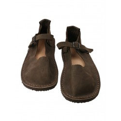 Handmade brown sandals for women by Trek