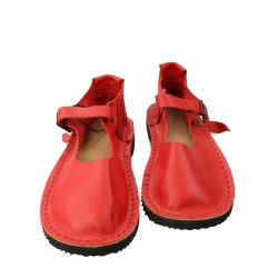 Handmade red sandals for women by Trek