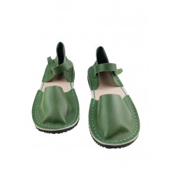 Green women's sandals from the Trek studio