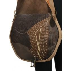 Large, artistic cross-body bag for women