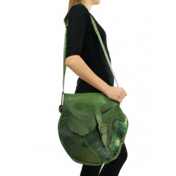Large women's crossbody bag in an artistic style