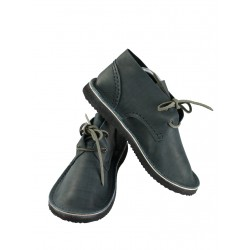 Gray natural leather shoes Basic 2.
