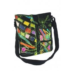 A unique silk felted handbag