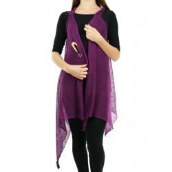 Women's long vest