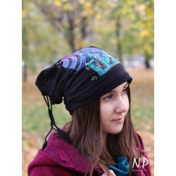 Hand-painted 3-in-1 cotton jersey cap