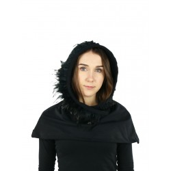 Women's chimney with a hood