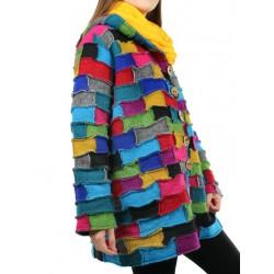 Patchwork jacket made of Podlasek steamed wool