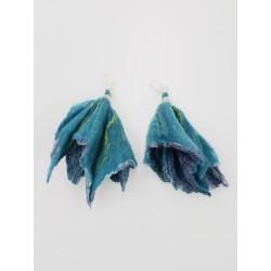 Long felt earrings